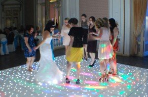 The ultimate wow factor, our amazing LED dance floor.